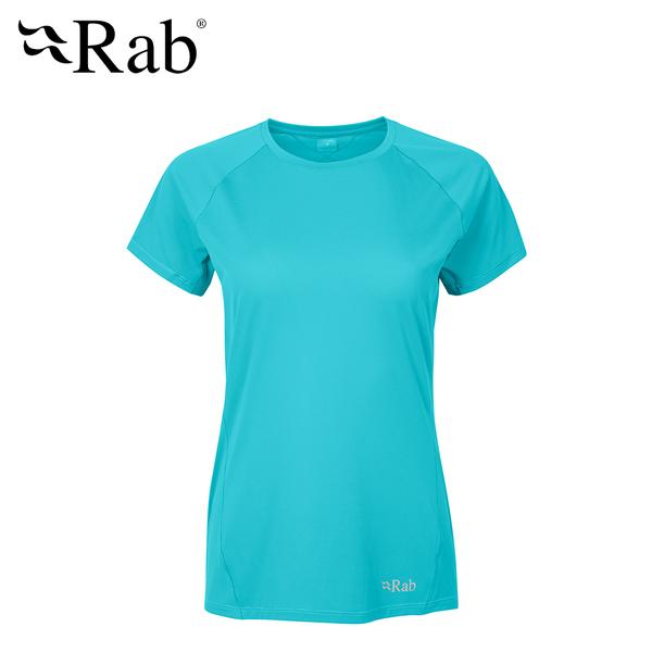 英國 RAB Force SS Tee 透氣短袖排汗衣 女款 海玻璃 #QBU56