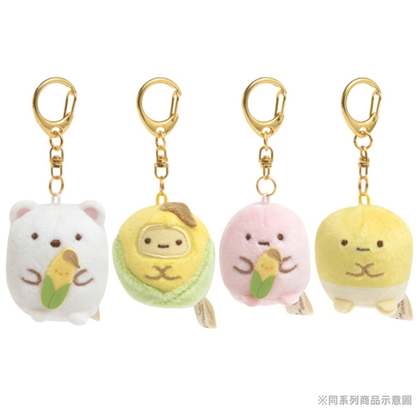 San-X 角落生物 玉米濃湯系列 迷你絨毛吊飾 粉紅珍珠 粉_XS78695