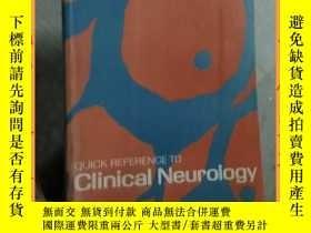 二手書博民逛書店英文書罕見quick reference to clinical neurology臨床神經病學快速參考Y16