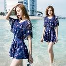 游泳衣女2021新款遮肚顯瘦連體性感仙女范韓國ins大碼泡溫泉泳裝 果果輕時尚
