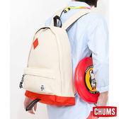 CHUMS 日本 SxN 經典豬鼻休閒後背包 貝殼白/珊瑚紅 CH600681W006