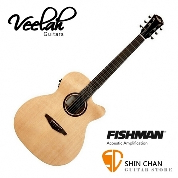 Veelah吉他 V1-OMCE om桶身/面單板/切角/電木吉他 Fishman拾音器 贈原廠木吉他袋/V1專用(全配件)