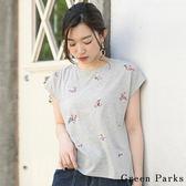❖ Summer ❖ 刺繡小花朵T恤/上衣 - Green Parks