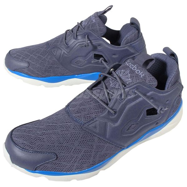 Reebok 休閒慢跑鞋 Furylite TM 灰 藍 運動 男鞋 【PUMP306】 V67731