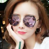 新款偏光太陽鏡女韓版潮復古原宿風墨鏡個性圓臉網紅眼鏡 聖誕交換禮物