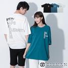 【OBIYUAN】短袖t恤 韓國製 情侶款 字母 寬鬆落肩 短袖衣服 3色【F10019】