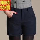 西裝短褲典雅嚴選-立體裁剪加厚休閒女褲子3色66ai3【巴黎精品】