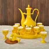 酒具套裝陶瓷 酒壺清酒黃酒白酒杯 仿古中式家用創意分酒器WY