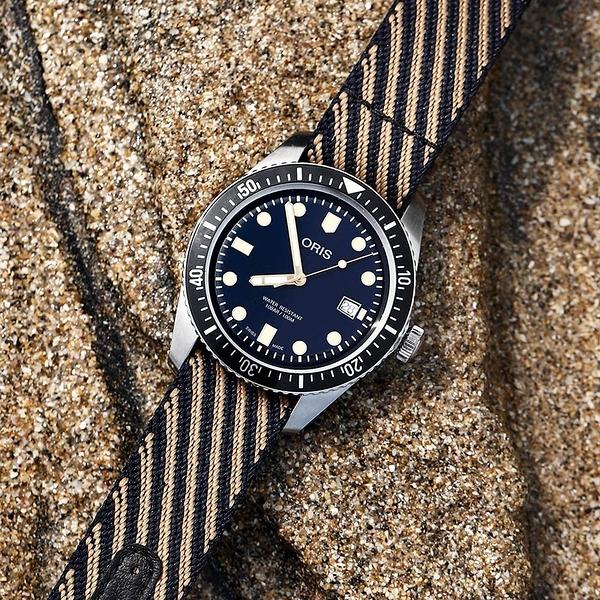 限量5只 Oris豪利時 Divers Sixty-Five 特別版機械錶-藍/42mm 0173377204035-TS