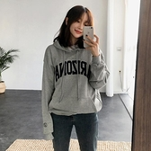 韓國連帽衛衣女學生2020秋冬季新款韓版寬鬆灰色慵懶風加絨上衣潮 【元旦狂歡購】
