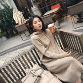 洋裝/新款連帽長款毛衣裙過膝打底針織衛衣裙連身裙加厚女「歐洲站」
