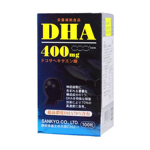 日本三共SANKYO【 新智慧王】 DHA 400mg +PS磷脂絲胺酸 精純軟膠囊 100顆