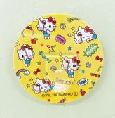 【震撼精品百貨】Hello Kitty_凱蒂貓~Sanrio HELLO KITTY貼式掛勾-圓形黃#86239