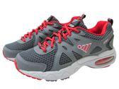『雙惠鞋櫃』★JUMP將門★ 經典休閒款 女氣墊運動鞋/布鞋 ★(608) 碳灰紅