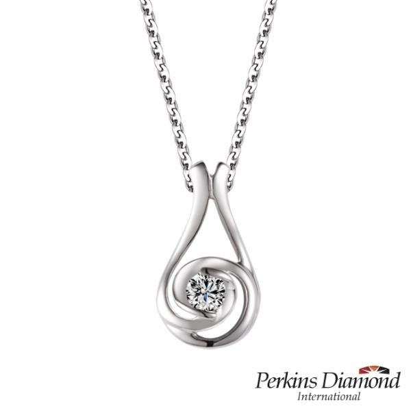 【南紡購物中心】PERKINS 伯金仕 Hug Series II 鑽石項鍊