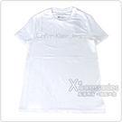 CK Calvin Klein 經典銀色燙金文字LOGO造型男仕短袖T恤(XS/白)