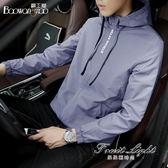外套男韓版潮流運動休閒上衣男裝黑色修身連帽男生夾克 果果輕時尚