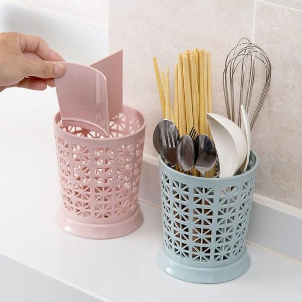 【TT】鏤空瀝水筷籠家用塑料筷子架 廚房勺子收納架筷子筒筷子籠