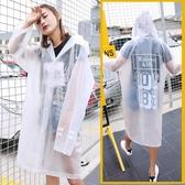 雨衣雨衣成人徒步透明女一次性開扣時尚男戶外登山加厚便攜自行車雨披部落