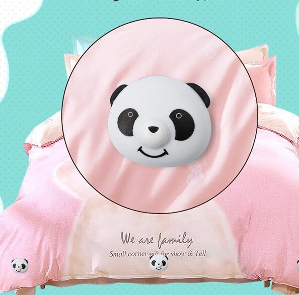 熊貓扣家庭版20個裝 被子固定器防跑安全無針家用棉被防滑扣被罩被角被套床單夾神器【極有家】