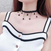 項鍊 女短款頸帶韓版脖子簡約黑色項圈頸鍊choker項鍊LJ8104『黑色妹妹』