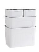 收納箱內衣收納盒衣服玩具整理箱衣櫃塑料有蓋衣物儲物箱子4件套xw