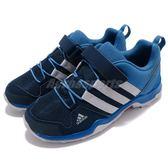 adidas 戶外鞋 Terrex AX2R CF K 藍 深藍 魔鬼氈 戶外 運動鞋 童鞋 中童鞋【PUMP306】 CM7654