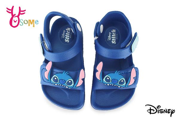 DISNEY迪士尼 史迪奇 全防水涼鞋 寶寶涼鞋 中小童 MIT 台灣製 J6377#藍色◆OSOME奧森鞋業