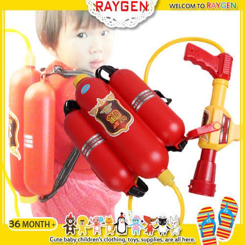 玩具 消防員 背包 水槍 二件組 沙灘 游泳池