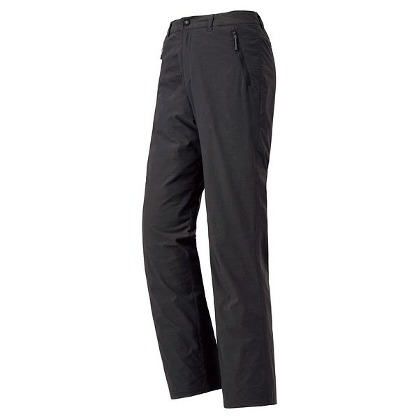 [好也戶外]mont‧bell Lined Trekking Pants女內裡短刷毛長褲 炭黑/卡其 No.1105641-DKCH/TN
