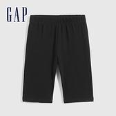 Gap女童 棉質微彈針織短褲 697331-黑色
