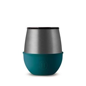 美國HYDY優雅蛋型杯 鈦灰x孔雀綠-240ml