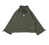 PUMA INTERSTELLAR 女性微高領寬版軍綠色上衣- NO. 53029964