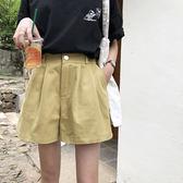 EKOOL牛仔短褲女夏高腰2018韓版寬鬆學生百搭a字闊腿短褲女熱褲子 草莓妞妞