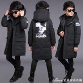 童裝男童冬裝棉衣外套新款兒童中大童男孩中長款加厚羽絨棉服 艾美時尚衣櫥