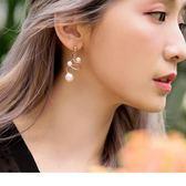 《ZC1399》珍珠螺旋金屬耳環 OrangeBear