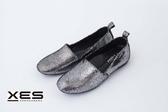 XES 爆裂閃軟Q軟Q 熱銷款 休閒鞋 樂福鞋 女款 銀色