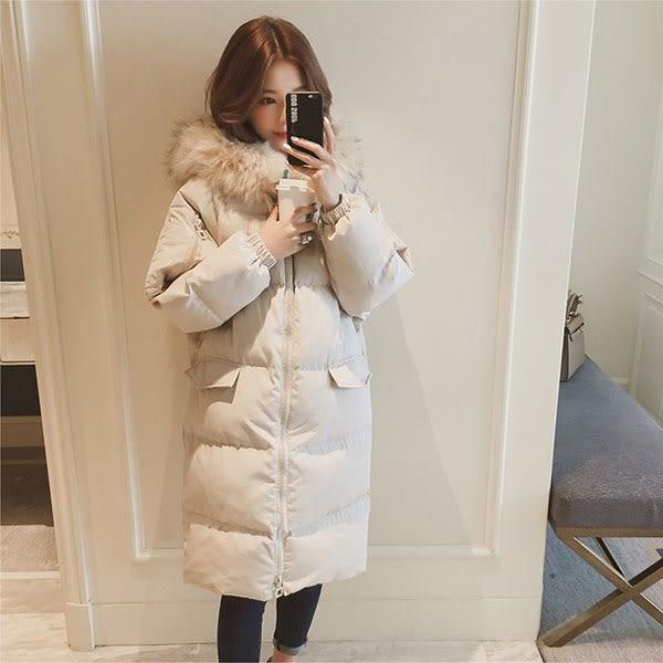 韓劇 爆毛 羽絨 外套 大衣 麵包服 鋪棉 棉服 棉敖 防水 防風 長版 保暖 加厚 雪衣 NXS