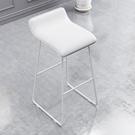北歐休閒吧臺椅現代簡約家用鐵藝椅子前臺飲料咖啡店高腳凳【快速出貨】