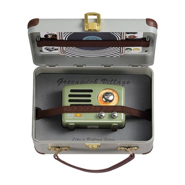 復古綠小王子便攜式手機藍芽音箱音響收音機無線藍芽迷你復古收音機小音箱 錢夫人小鋪