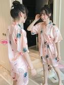 YoYo 和服睡衣 睡裙 睡袍 純棉 浴袍 中長款 和服睡衣