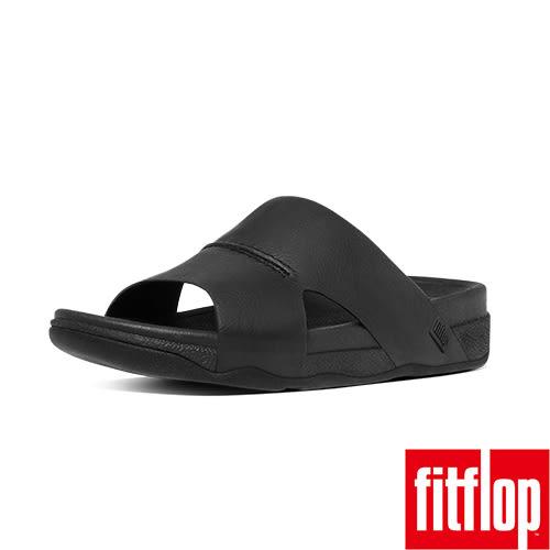 FitFlop TM _BANDO TM LEATHER SLIDE-黑色