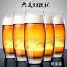 6只家用玻璃啤酒杯套裝精釀品脫酒杯大號個...