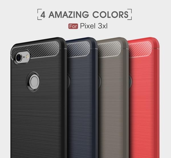 谷歌pixel5 XL碳纖維拉絲TPU防摔套 pixel4全包磨砂硅膠韓殼Pixel 3a 4a