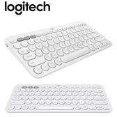 【Logitech 羅技】K380 多工藍芽鍵盤(珍珠白) 【贈手搖飲料杯套】