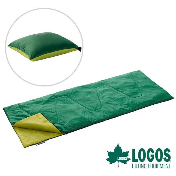 【日本LOGOS】ROSY丸洗靠墊睡袋17℃ 露營 居家 枕頭抱枕 靠墊 中空棉 可機洗 信封型 72600900