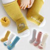 嬰兒襪子秋冬季純棉加厚防滑0-6個月3歲長筒新生兒男女寶寶地板襪  走心小賣場