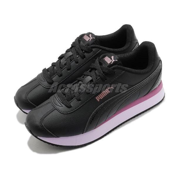 Puma 休閒鞋 Turino Stacked Snake 黑 粉紫 女鞋 厚底 增高 復古【ACS】 37414202