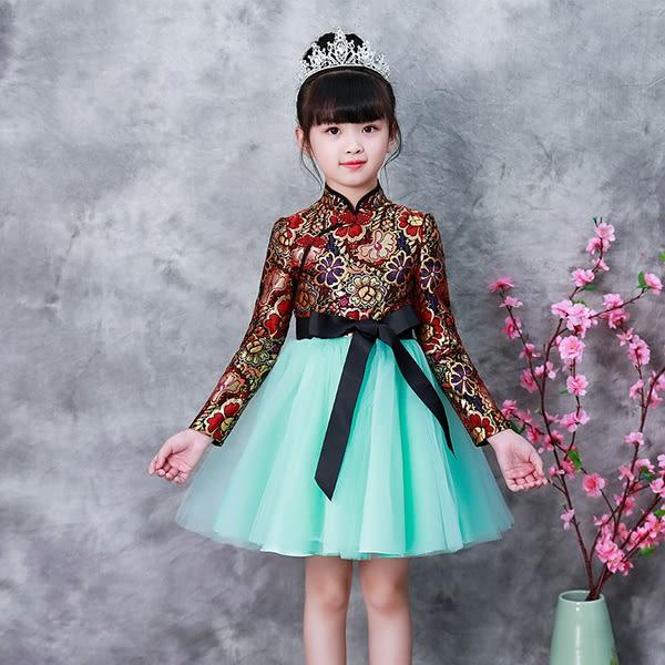 洋裝 連身裙  女童連衣裙2018秋裝新款冬裝洋氣兒童裝裙子公主裙加絨女寶寶女孩 女童裝8歲以上