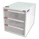 【奇奇文具】樹德SHUTER A4-103H白櫃透明抽三層效率櫃